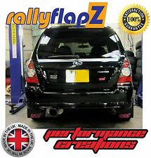rallyflapZ SUBARU FORESTER STi (04-08) 2nd Gen Mud Flaps Black STi Pink 4mm PVC
