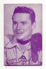 Russell Hayden 1940's Salutations Cowboy Purple Exhibit Arcade Card