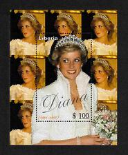 Liberia 1997 Princess Diana Memorial (Tiara) miniature sheet of 1 value MNH