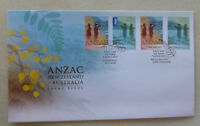 2015 NEW ZEALAND - AUSTRALIA JOINT ISSUE SET 4 STAMPS ANZAC FDC FIRST DAY COVER