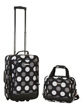 Rockland F102-NEWBLKDOT 2 Pc Luggage Set - New Black Dot NEW
