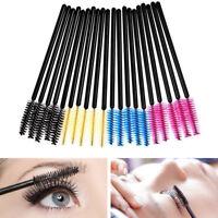 25~100pcs Eyelash Eye Lash Black Disposable Mascara Wand Brush Spoolies Makeup