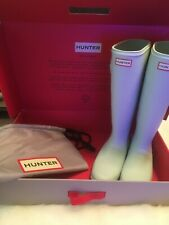 Rare!!! Light 'Tiffany Blue' Hunter Boots New in Box Packable Waterproof Size 10