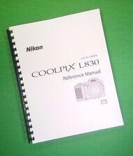 Nikon L830 Coolpix Camera 204 Page Laser 8.5X11