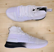 Under Armour Project Rock 1 White Black Training Shoes 3020788-102 Mens Size 9.5