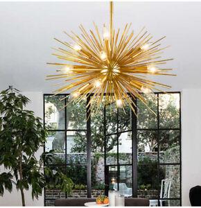 Nordic Art LED Aluminum Dandelion Chandelier Golden Chandelier Decorative Lamp