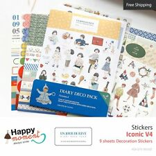 Iconic V4 Stickers Diary Planner Scrapbooking Decoration Stickers 9 sheets