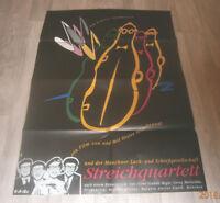 A1-Filmplakat  STREICHQUARTETT,DIETER HILDEBRAND,MÜNCHER LACH SCHIEßGESELLSCHAF