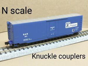 Bangor & Aroostook BAR Fraser 50' box car N scale MTL MIcro Trains blue plug RR