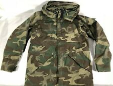 US Army Issue Cold Weather Parka Jacket Woodland Camo Size Mens Medium Long