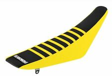 SUZUKI RMZ 250 2010-2016 ENJOY SEAT COVER Yellow sides, Black top, Yellow ribs