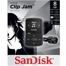 NEW SanDisk Sansa Clip Jam 8GB BLACK MP3 Player FM Radio Music USB MicroSD Slot
