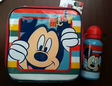 Lunch Bag/Box and Bottle Set Mickey Mouse, High Quality, Multicolor, Kids, Gift