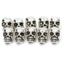 Charms For Bracelet DIY Spacer Beads Antique Silver Jewelry Making Skull Head