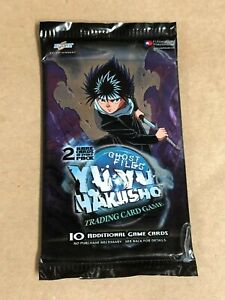 SEALED Yu Yu Hakusho TCG Ghost Files Booster Pack CCG - 2 Rares per Pack SEALED