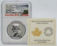 2021 Canada Silver Peace Dollar 1 oz NGC PF69 Reverse Proof UHR Coin - JJ482