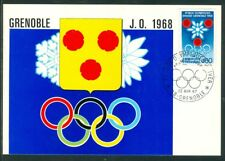 France Olympische Spiele Olympic Games Grenoble 1968 Maximumcard with first day
