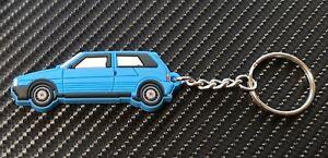 Fiat Uno Ie Turbo Car Key Anello - Blue