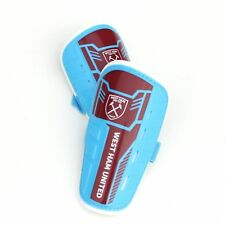 West Ham FC Football Kit Official Shinguards Shinpads Boys Size XS 120cm Height