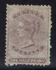 Ceylon SG# 48b, Mint Hinged, Full Original Gum, Tiny Bottom Tear -  Lot 010416