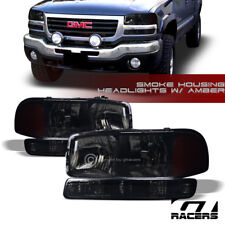 SMOKE HEAD LIGHTS+BUMPER SIGNAL LAMPS AMBER NB 1999-2006 GMC SIERRA/2000+ YUKON