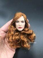"1/6 Female Head Sculpt GC031A  for 12"" Action Figure Doll PHICEN SUNTAN"