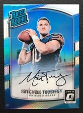 #/99 Mitchell Trubisky 2017 Optic Rated Rookies Holo Auto RC