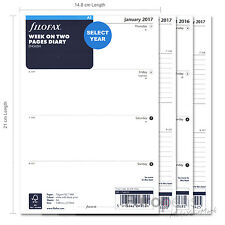 Filofax A5 Size Organiser Diary Inserts / Refills - Select Year 2018 2019