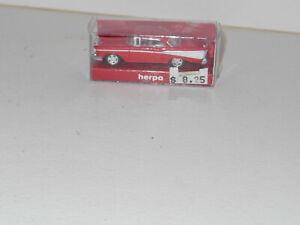 HO herpa 1957 Chevrolet Bel Air 2 door Hardtop RED