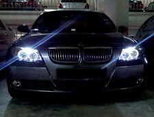 FARI CROMO BMW SERIE 3  E90 E91 ANGEL EYES CCFL AL NEON CON CIGLIO SUPERIORE