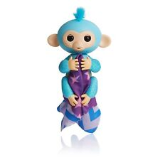 Fingerlings GLITTER Monkey Amazon Exclusive Amelia Turquoise + Bonus Blankie