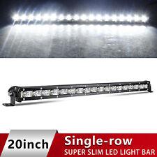 Ultra-thin LED Light Bar 20Inch 90W Slim Spot Driving Lamp Single Row offroad
