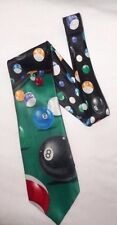 """Billiards Pool 59"""" Necktie Eight Ball Pool Table COLORFUL"""
