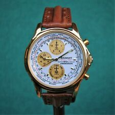 RADIANT World Timer Chronograph 50m Water Resistant Watch N94J Reloj Montre