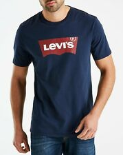 Men's Levis Batwing Graphic Chest Printed TShirt Crew Neck Short Sleeve Tee