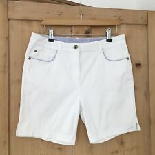 Maine Debenhams White Cotton Classic Chic High Mid Rise Shorts Size 12