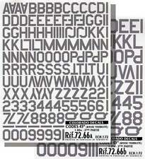 Colorado Decals 1/72 Grey Code Letters and Numbers # 72066