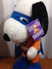 """Halloween Peanuts 26"""" Tall Masked Snoopy Super Hero Porch Greeter NWT"""
