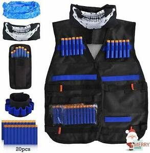 NERF Vest Chest Tactical Kids Jacket GFU for Boys Utility Ammo NURF Accessories