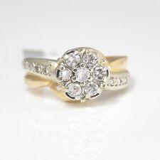 NYJEWEL 14k Solid Gold Elegant 0.82ct Floral Diamond Ring w/ apprasial