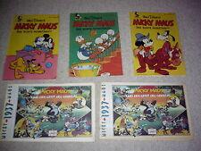 2x Reprint Micky Maus und der Geist des Gorillas 1937, 3x Monatsheft 1951,1952
