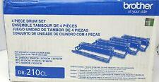 Genuine OEM Brother DR-210CL DR210CL 4 Piece Laser Drum Units
