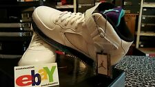 Nike Air Jordan AJF 5  Retro Fusion 8/29/10 WHT/GRAPE ICE-NW EMERALD 407334 102