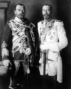 New 8x10 Photo: Czar Nicholas II of Russia and King George V of England, 1913
