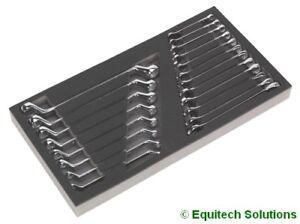 Sealey (Siegen) S01124 Tool Tray Combination Deep Offset Spanner 20 Piece Set