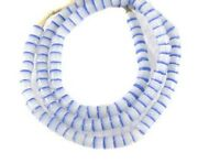 AFRICAN GHANA KROBO Recycled blue GLASS TRADE BEADS