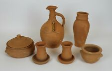 Ceramic Decor Set Ancient made from Ð¡lay for Home Restaurant Cafe 100% Handmade