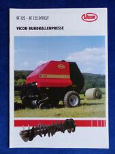 0095) Vicon Rundballenpresse RF 122 Opticut - Prospekt Brochure 02.1998