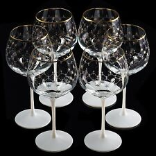 EXCLUSIVE Russian Imperial Lomonosov Set 6  Glasses for Water Cobalt Net RARE