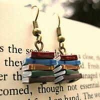Stack of Books Earrings Women Multicolor Book Pendant Earrings Fashion Jewellery